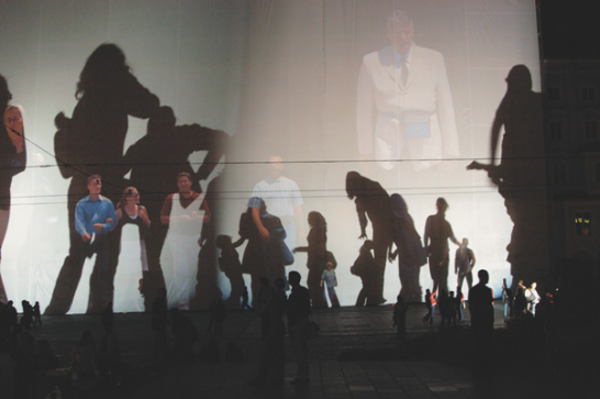 Shadow plays in Linz (Ars electronica)