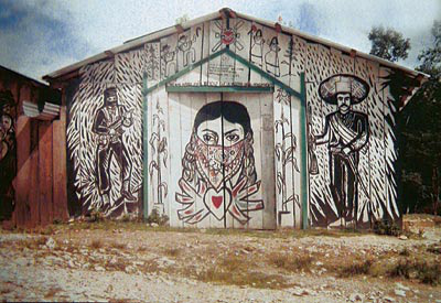 Divus struggle with in zapatista murals for Mural zapatista