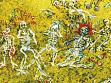 James Ensor, Bitva Kostlivců (detail), 1907<br />olej na plátně