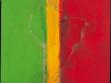 Frank Bowling, Who´s afraid of Barney Newman, 1968, malba na plátně