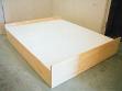 Veronika Šramatyová, Sweet Bed (Sladké lůžko), 2002, objekt, dřevo, práškový cukr