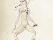 Viktor Brauner, Anatomie du désir (Anatomie touhy), 1935, tuš a akvarel na papíře, foto: Neue Galerie Graz