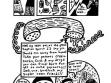Mike Diana, Sourball Prodigy (Zázrak kyselého bonbónu), 1992, kresba tuší na papíře, ukázka
