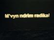Dren Maliqi, Potřebuji radikální změnu (M´vyn ndrim radikal), sprej na stěně, repro: Exit