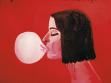 Marcin Maciejowski, Irene Jakob s bublinou (lrene Jacob z balonówką), 2000, olej na plátně