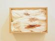 Aneta Mona Chisa, Lucia Tkáčová, Denník mojho tela 2, 2003, použité hygienické vložky, dřevěný box, 25 x 20 cm, foto: autorky