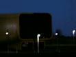 Tajemná noc na Expo 2000 v roce 2005. Litevský pavilon, pohled od čínského pavilonu.