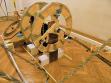 Michael Beutler, Sputnik, 2005, detail z instalace, foto: Romilly Eveleigh
