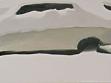 Maxim Mamsikov,  - 45°C,  2005,  óleo sobre lienzo, 40 x 120 cm