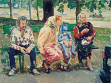Vasily Tsagolov, de la serie Expedientes-X  Ucranianos, acrílico sobre lienzo, 2004,  150 x 200 cm
