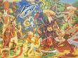 Arsen Savadov, El Día del Artista, óleo sobre lienzo, 2005,  230 x 360 cm