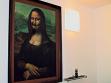 Jerzy Kosalka, Mona Lisa (z cyklu Pardon, Marceli), 1995, reprodukce obrazu Lenarda da Vinci a holicí náčiní.