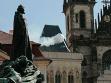 Nad Domem U Kamenného zvonu se Jana Kalinová pokusila vytvořit umělý mrak.