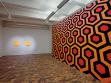 Patricie Fexová, Double Sunrise, digitální tisk; Jan Šerých, Shining. Kubrick´s Carpet, 2005, nástěnná malba, repro: Martin Polák