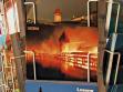 Chapel Bridge fire on tourist postcard.