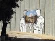 Banksyho práce na zdi oddělující Izrael a Palestinu.2005.