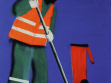Garbageman, 2006, acryllic on canvas, 150x120cm.