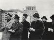 A deputation of Czechoslovak architects in the Soviet Union(October 25-November 20, 1951)In front of the Moscow university,from left to right: Jaroslav Fragner, Jozef Lacko, František Zounek, Oldřich Starý, the head of the diputation Vladimír