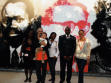 Curators of the African Pavilion, in the background. Repro: Alena Boika.
