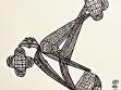 diagramy abjadu z  čádorů v instalaci Nonad. Repro Azad Gallery