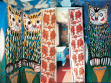Illustrations provided by Elena Afanasieva (TOTEM Group) and NASH magazine. The paintings cover the walls and ceilings of nine rooms, exterior walls of the house, and the fence.