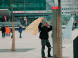 "Like at home / showcase, interventions in the center of Berlin,  at Alexanderplatz, in interaction and under influence of their cinematic documentation. Supervised by ""Empfangshalle"" (www.empfangshalle.de), conducted by Prof. Wolfgang Krause, cinematic di"