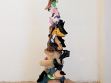 Shoes and Bears, 2008, plush toys and shoes, 210 cm