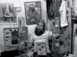 B. U. Kashkin in seinem Atelier. Yekaterinburg, 1988. Foto: Alexander Shaburov.