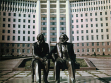 Lazăr Dubinovschi Marx und Engels (1975-76), Chișinău [zerstört]. Foto von Kibzia I.V.
