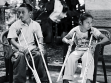 Brother and Sisters. Part II: This second picture of Andres and his sister Maria, attempts to capture the divergent gendered paths both siblings may take in aworld that continues toward further discrimination of the mobility impaired. Much like the fi