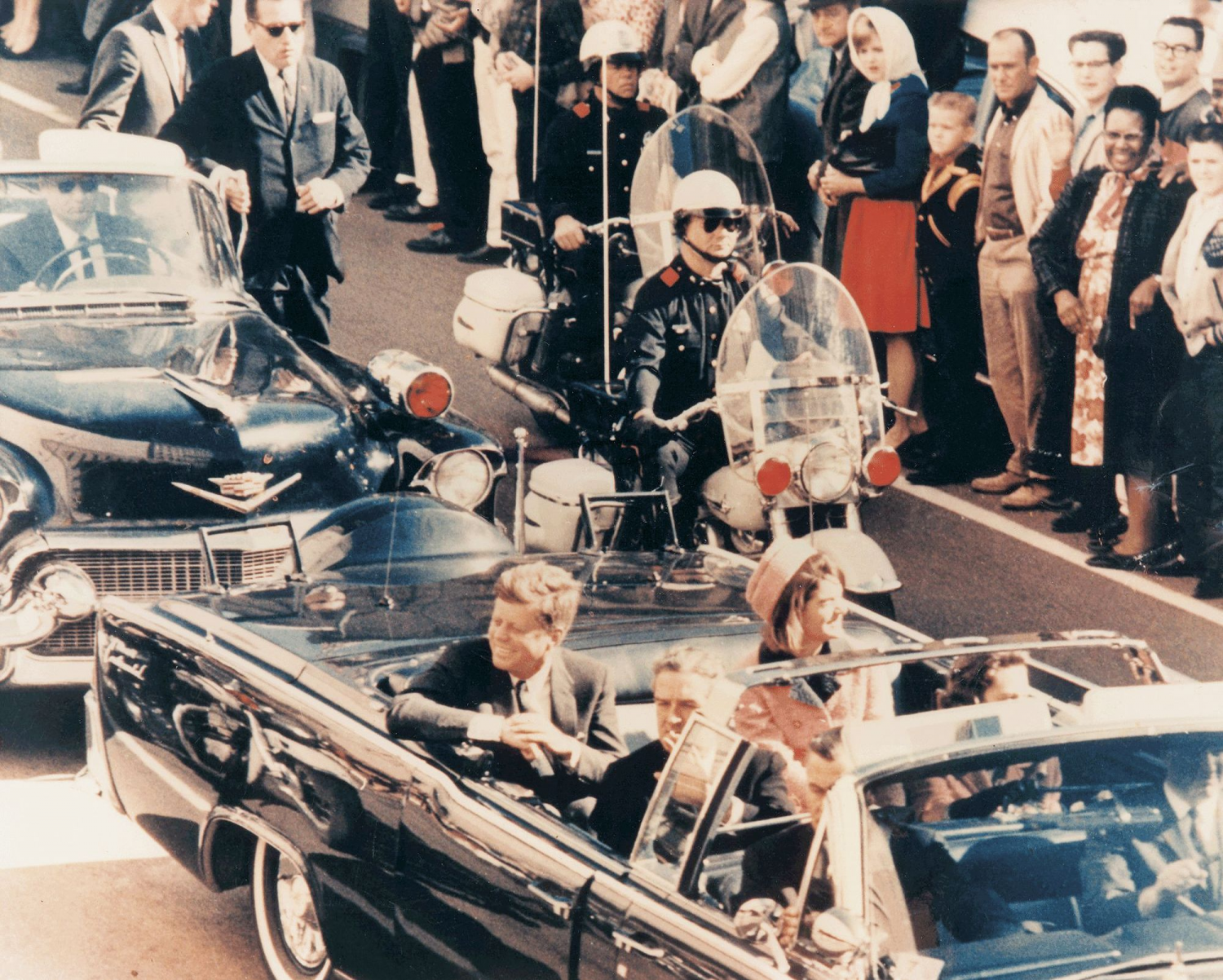 ... President Kennedy In The Limousine In Dallas, Texas, On Main Street,  Minutes Before ...