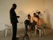 Preparing an interview session with NSK passport applicants at CCA Lagos, photo: Miran Mohar.