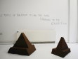 Beth Fox 'A Trail of Toblerone to Lead the Swiss Collectors to my Exhibition' 2013, wood & paint, dimensions variable