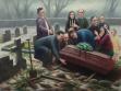 Pohřeb, olej na plátně, 280x200 cm, 2012
