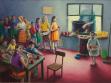Školní jídelna, olej na plátně, 280x200 cm, 2012